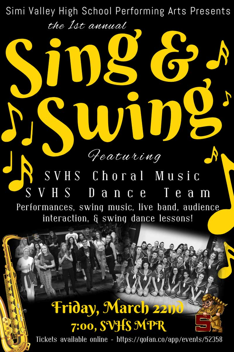 Sing   Swing Dance - March 22nd
