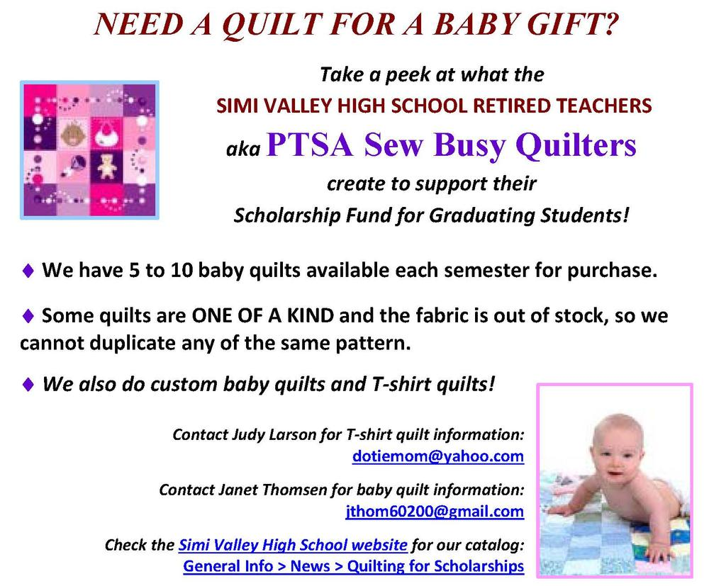 Baby Quilts Available