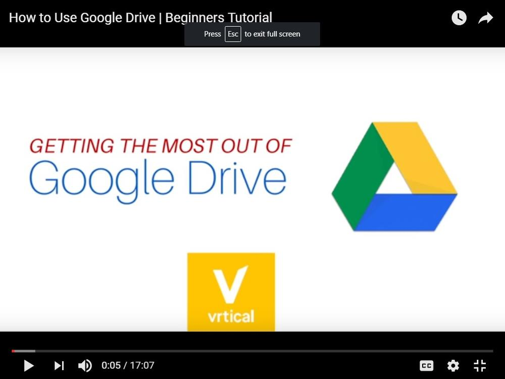 Getting the Most out of Google Drive